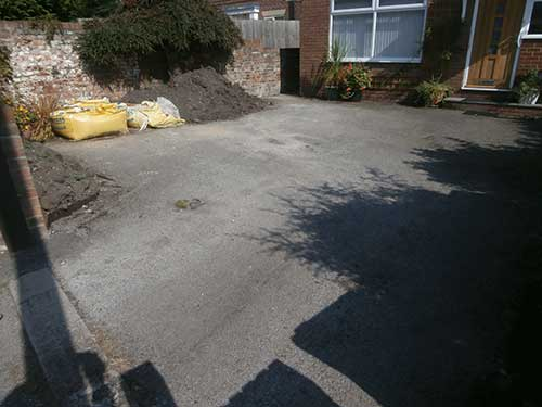 Hedon Resin Driveway installation photo before