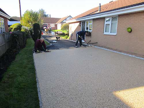 Partly laid resin driveway in Kirk Ella