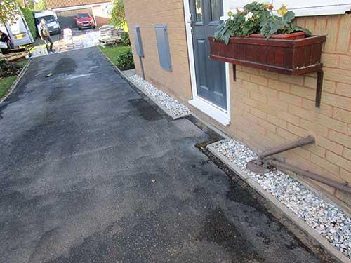 Side of old tarmac driveway. Kirk Ella, Hull