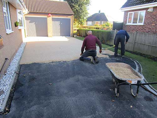 Half way through laying resin surfacing. Kirk Ella, Hull