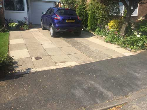 Driveway before image. North Ferriby