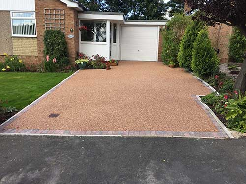 North Ferriby Driveway installation photo after