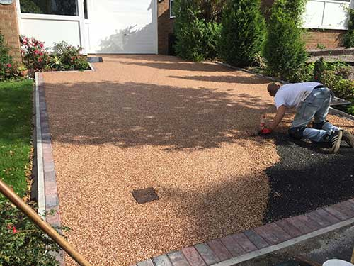 Finished off laying a new resin driveway