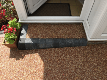 Newly built resin bound step in red