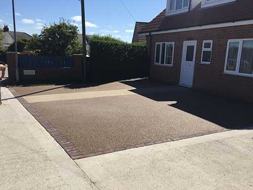 Finished resin surfacing in hornsea. Rockpave
