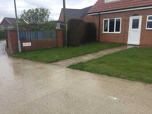 Concrete driveway in Hornsea Before renovations