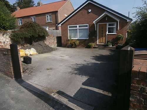 Old driveway in Hedon before renovations