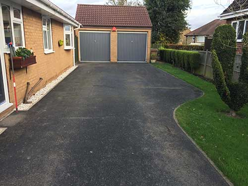 Before image of driveway in Kirk Ella