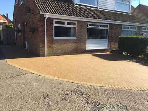 Completed resin driveway Burton Pidsea Hull
