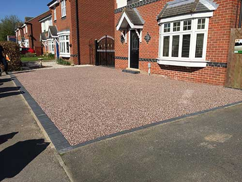 Driveway after resin installation. Hedon Hull