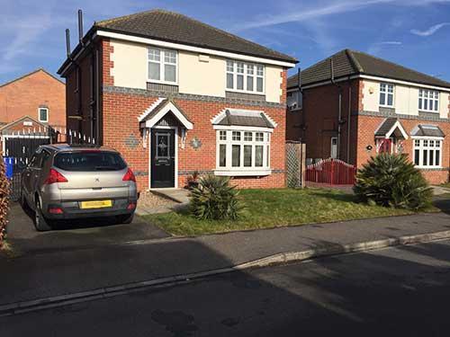 driveway before install. Hedon Hull