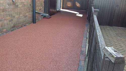 Red resin driveway in Scunthorpe.