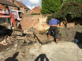 Digging our old driveway in Hedon