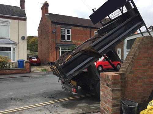 Delivering Tarmac for resin driveway in Hessle near Hull