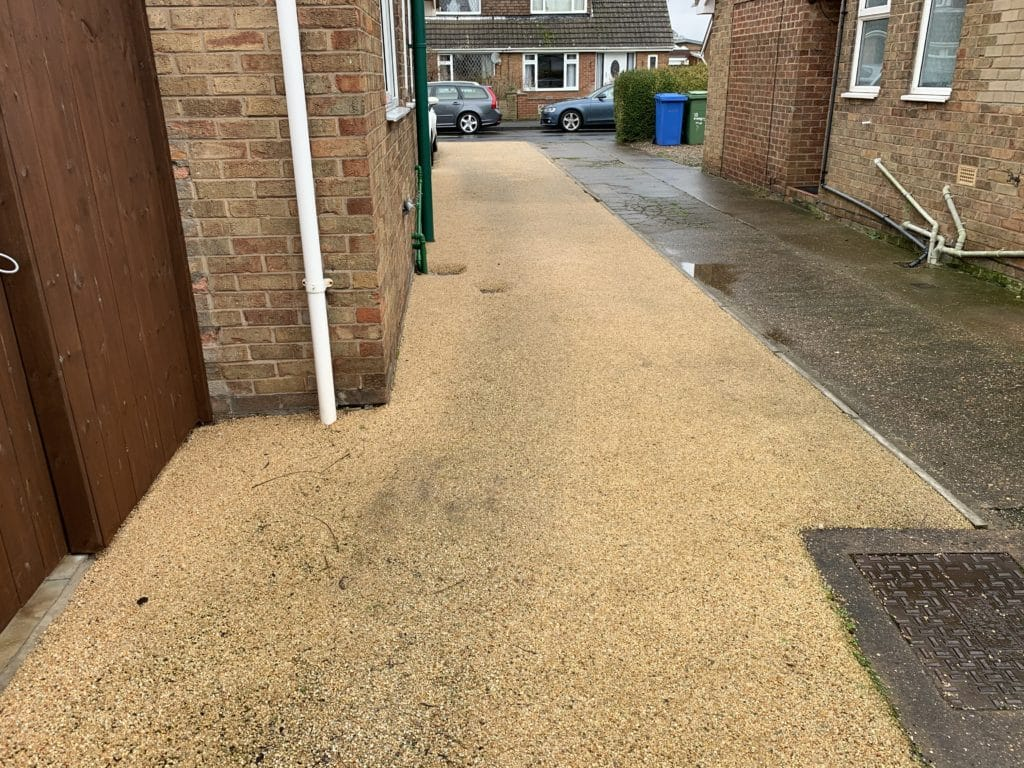 Badly marked resin driveway
