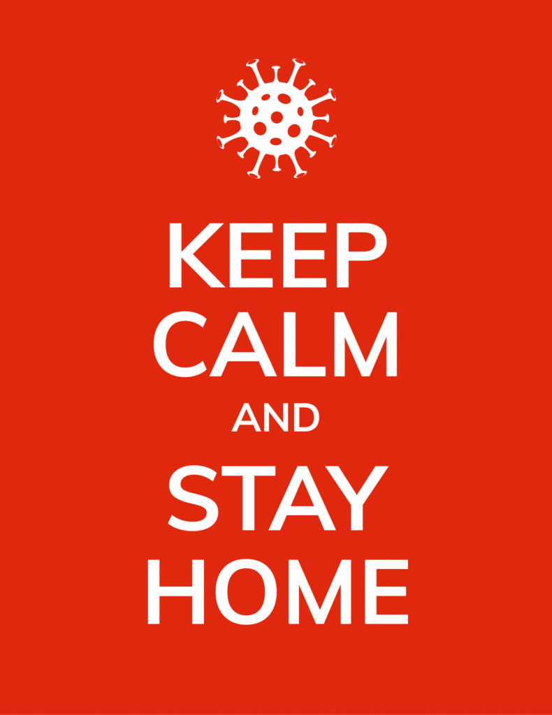Stay home advice coronavirus graphic