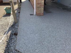 resin path by garage