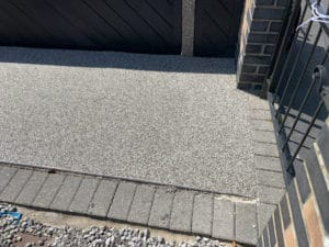 Corner of Resin Pathway in Willerby