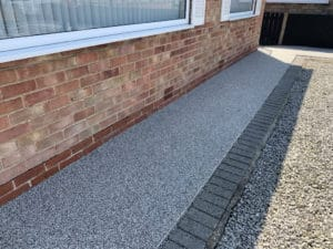 resin pathway to front of bay window